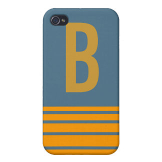 Stripes Monogram Case Covers For iPhone 4