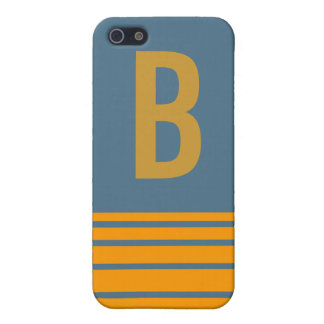 Stripes Monogram Case Covers For iPhone 5