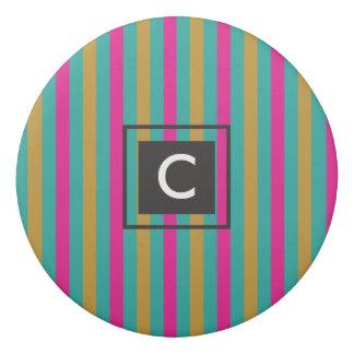 Stripes Monogram Eraser