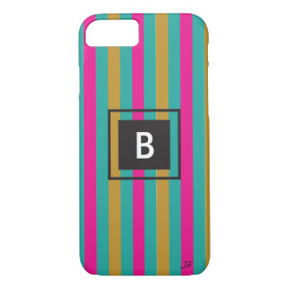 Stripes Monogram iPhone 8/7 Case