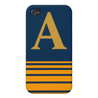 Stripes Monogram Speck Case Cover For iPhone 4