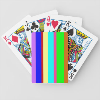 Stripes of Many Colors Poker Deck