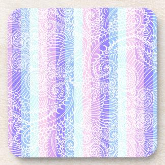 Stripes of pastel harmony coaster