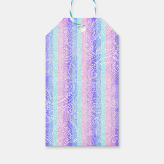 Stripes of pastel harmony gift tags