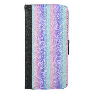 Stripes of pastel harmony iPhone 6/6s plus wallet case