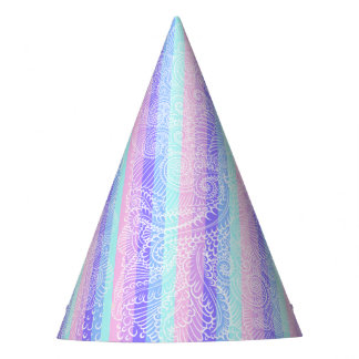 Stripes of pastel harmony party hat