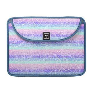 Stripes of pastel harmony sleeve for MacBooks