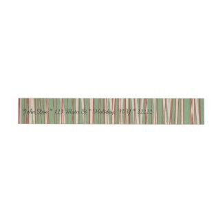 Stripes of Straw Wraparound Address Label