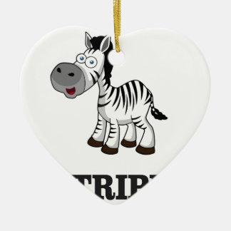 stripes of the zebra ceramic ornament