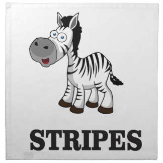 stripes of the zebra napkin