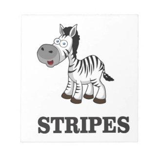 stripes of the zebra notepad