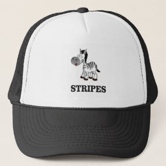 stripes of the zebra trucker hat