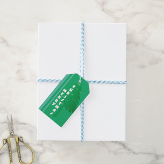 Stripes of Tree Gift Tags
