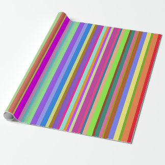 Stripes of Various Colors Wrapping Paper