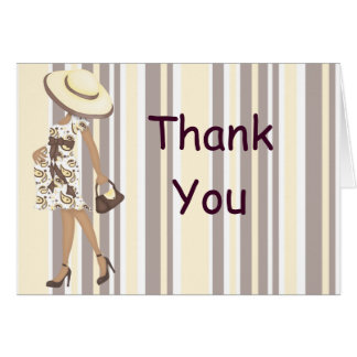 Stripes & Paisley Thank You Notecard (AA)