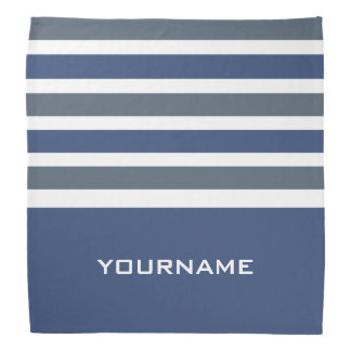 Stripes Pattern custom monogram bandana