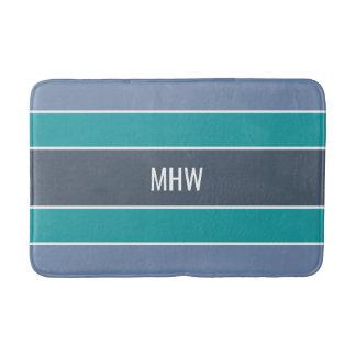 Stripes Pattern custom monogram bath mats