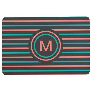 Stripes Pattern Custom Monogram floor mat