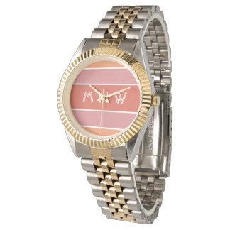 Stripes Pattern custom monogram watches