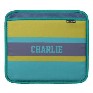 Stripes Pattern custom name device sleeves Sleeves For iPads