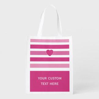 Stripes Pattern custom reusable bag Reusable Grocery Bag