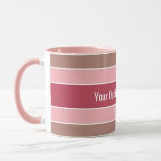 Stripes Pattern custom text mugs