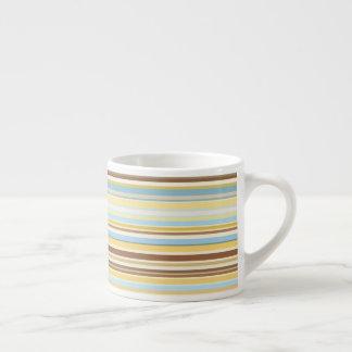Stripes Pattern Retro Colorful 1970s Style Espresso Cup
