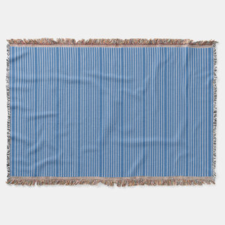 Stripes pattern two tones of blue throw blanket