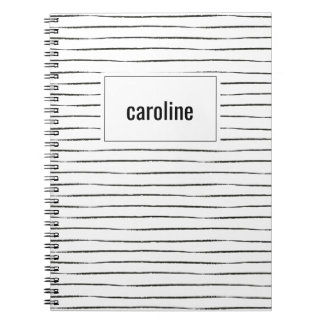 Stripes Personalized Notebook