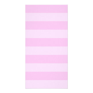 Stripes - Pink and Light Pink Photo Card Template