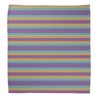 Stripes - Purple Blue Yellow Bandana