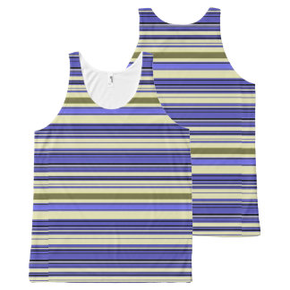 Stripes - Purple Blue Yellow Green All-Over-Print Tank Top
