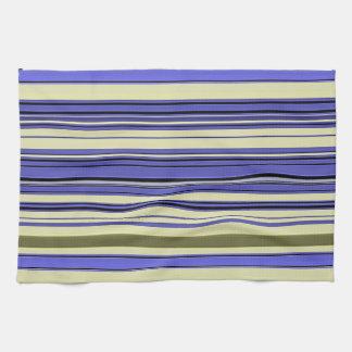 Stripes - Purple Blue Yellow Green Kitchen Towel