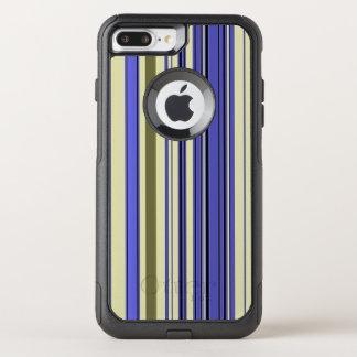 Stripes - Purple Blue Yellow Green OtterBox Commuter iPhone 8 Plus/7 Plus Case