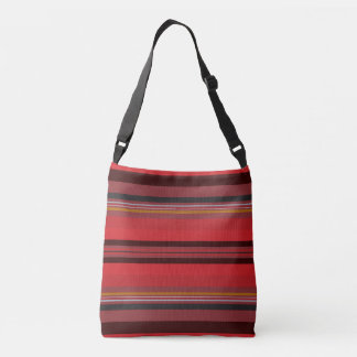 Stripes - Red Horizon Crossbody Bag