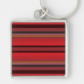Stripes - Red Horizon Keychain
