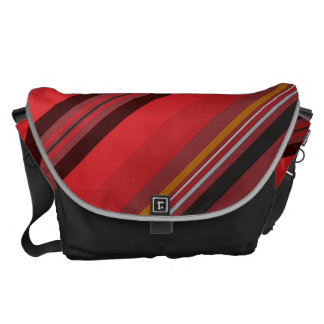 Stripes - Red Horizon Messenger Bags