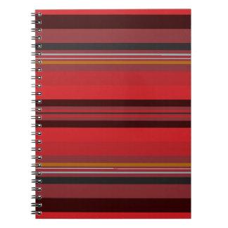 Stripes - Red Horizon Notebooks