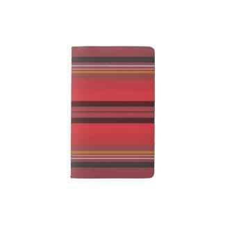 Stripes - Red Horizon Pocket Moleskine Notebook