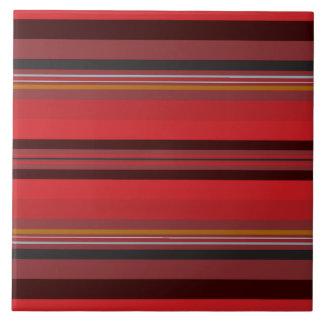 Stripes - Red Horizon Tile