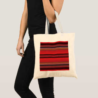 Stripes - Red Horizon Tote Bag