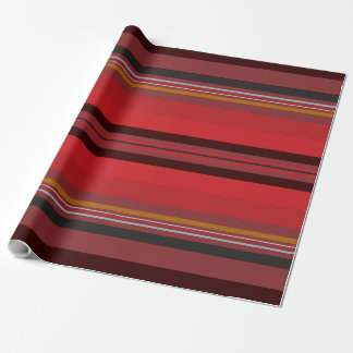 Stripes - Red Horizon Wrapping Paper