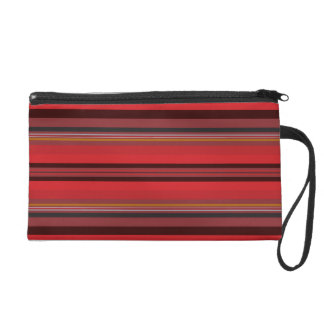 Stripes - Red Horizon Wristlet
