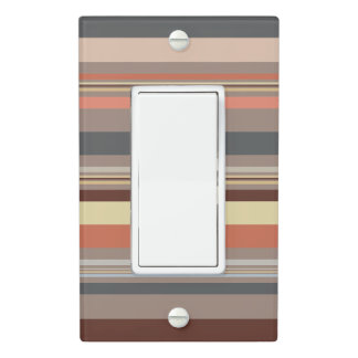 Stripes - Retro Tones Light Switch Cover