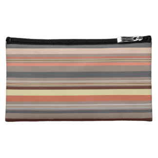 Stripes - Retro Tones Makeup Bag