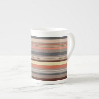 Stripes - Retro Tones Tea Cup