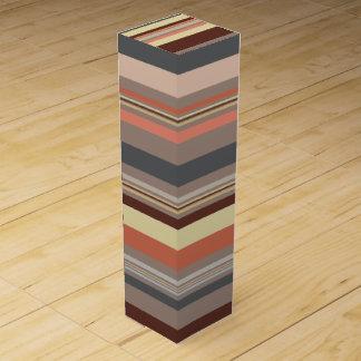 Stripes - Retro Tones Wine Box