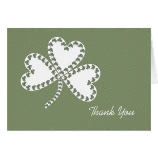 Stripes & Shamrocks Thank You Card