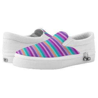 Stripes Shoes Purple Pink Blue Orange Lines