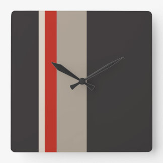 STRIPES Square Wall Clock